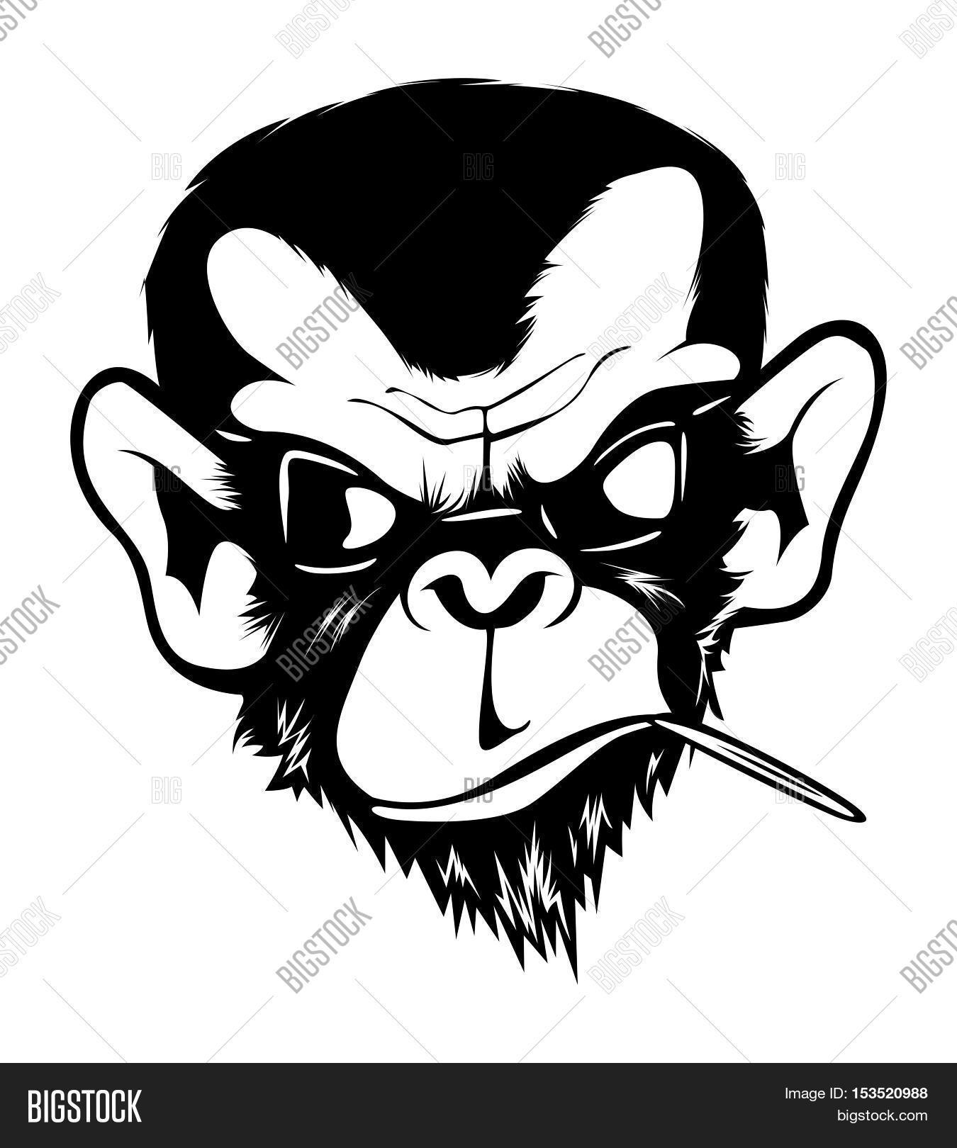 1350x1620 Mad Angry Bad Chimp Ape Monkey Image Amp Photo Bigstock