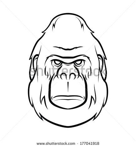 435x470 Angry Gorilla Decals Vectors