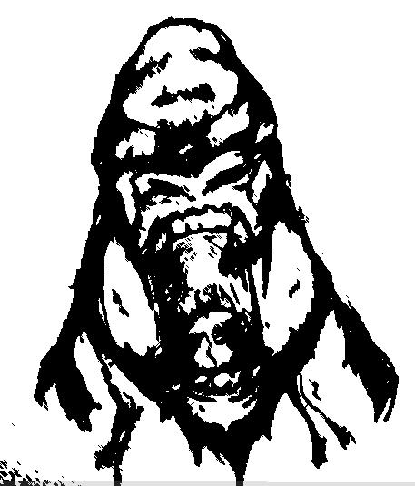 457x535 Angry Gorilla By Suzierip