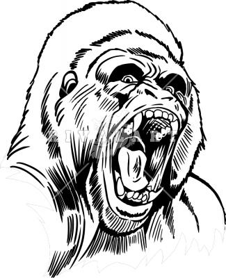 325x400 Gorilla Head