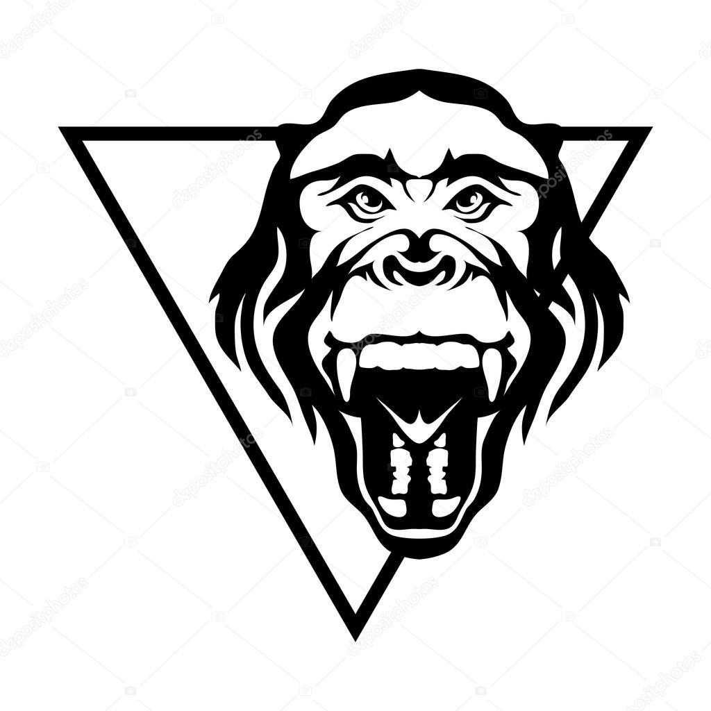 1024x1024 Gorilla Logo Illustration Stock Vector Korniakovstock@gmail