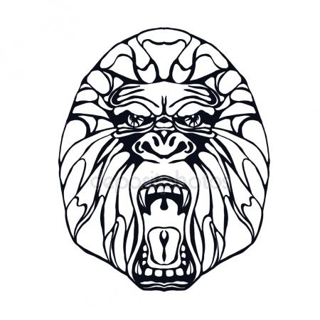 450x450 Angry Chimp Stock Vectors, Royalty Free Angry Chimp Illustrations