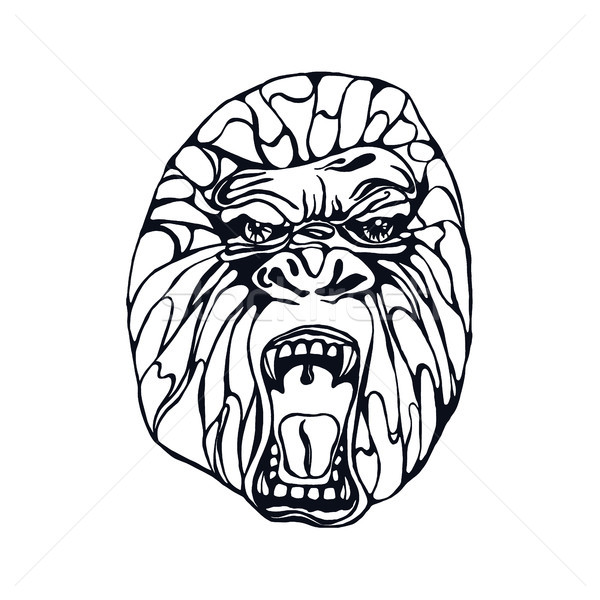 600x600 Angry Gorilla Stock Vectors, Illustrations And Cliparts Stockfresh