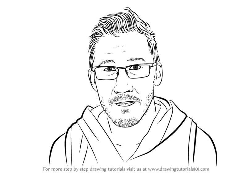 800x567 Learn How To Draw Markiplier (Youtubers) Step By Step Drawing