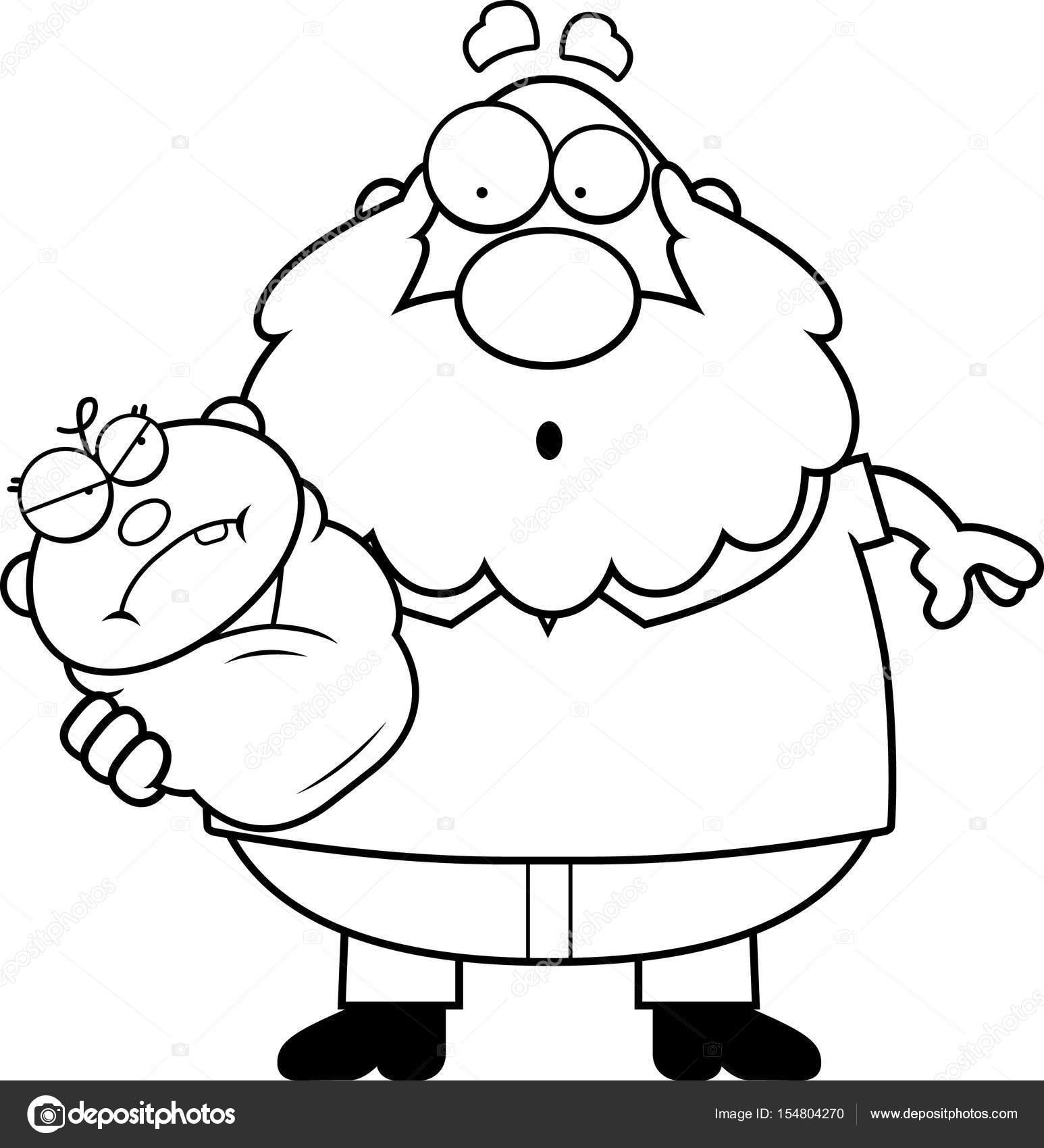 1546x1700 Cartoon Grandpa With Angry Baby Stock Vector Cthoman