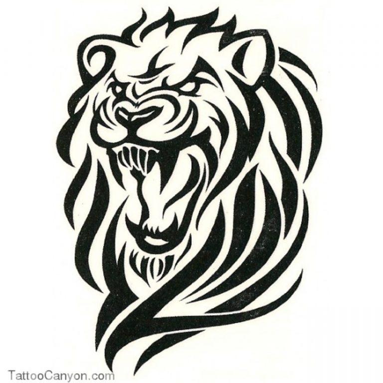768x768 Download Lion Tattoo Tribal Designs