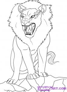 222x302 How To Draw Lions Drawing Tutorials Amp Drawing Amp How To Draw Lion