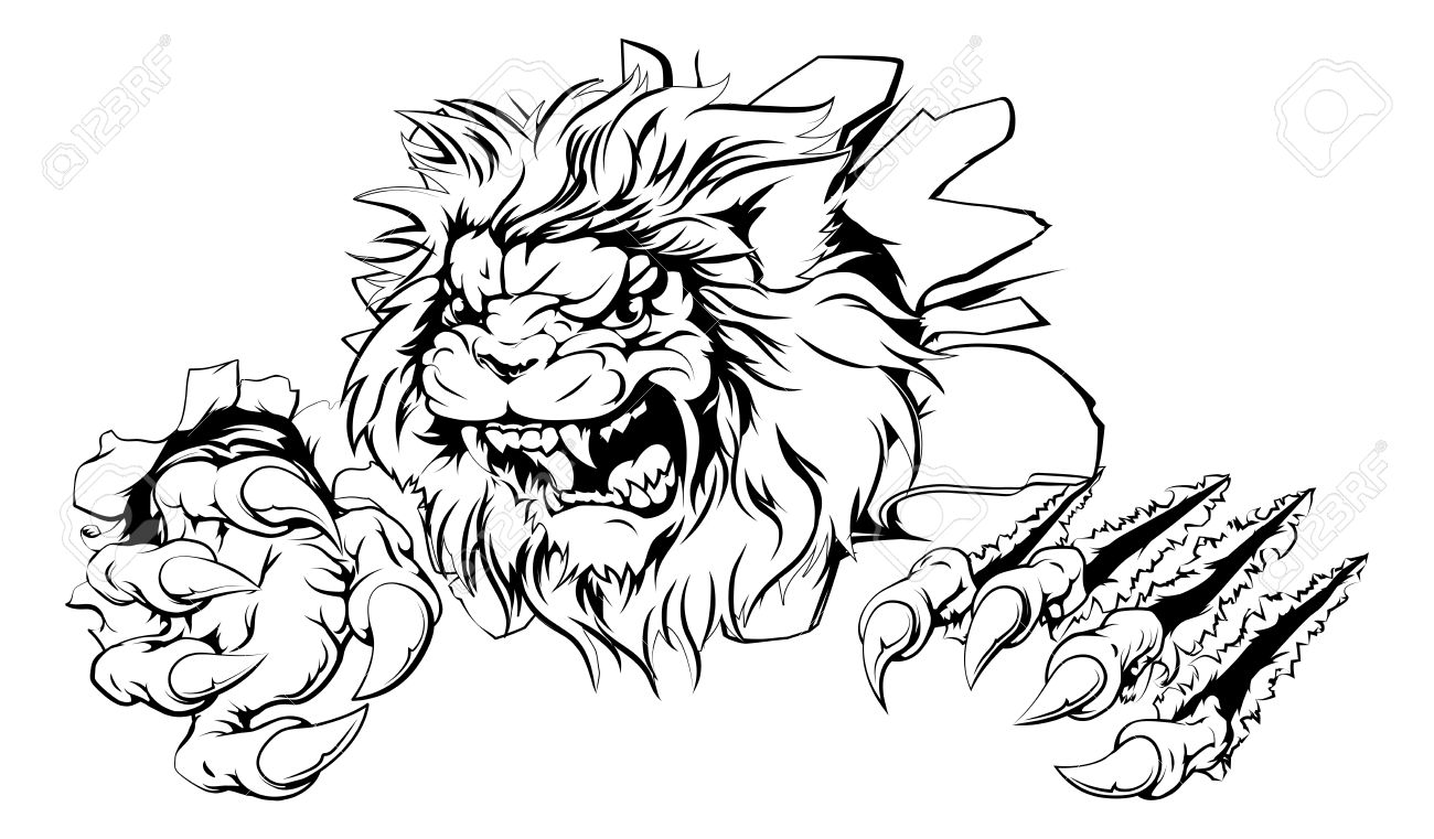 1300x761 Lion Drawing Stock Photos. Royalty Free Business Images
