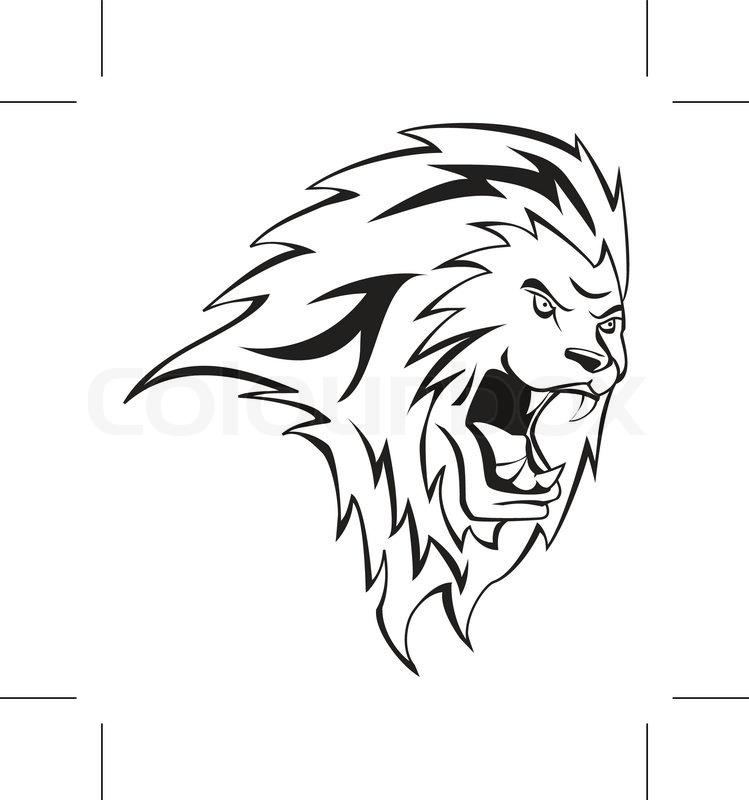 749x800 Lion Head Stock Vector Colourbox
