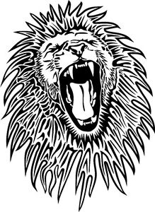 219x300 Roaring Angry Lion Face Car Decal Sticker Ebay