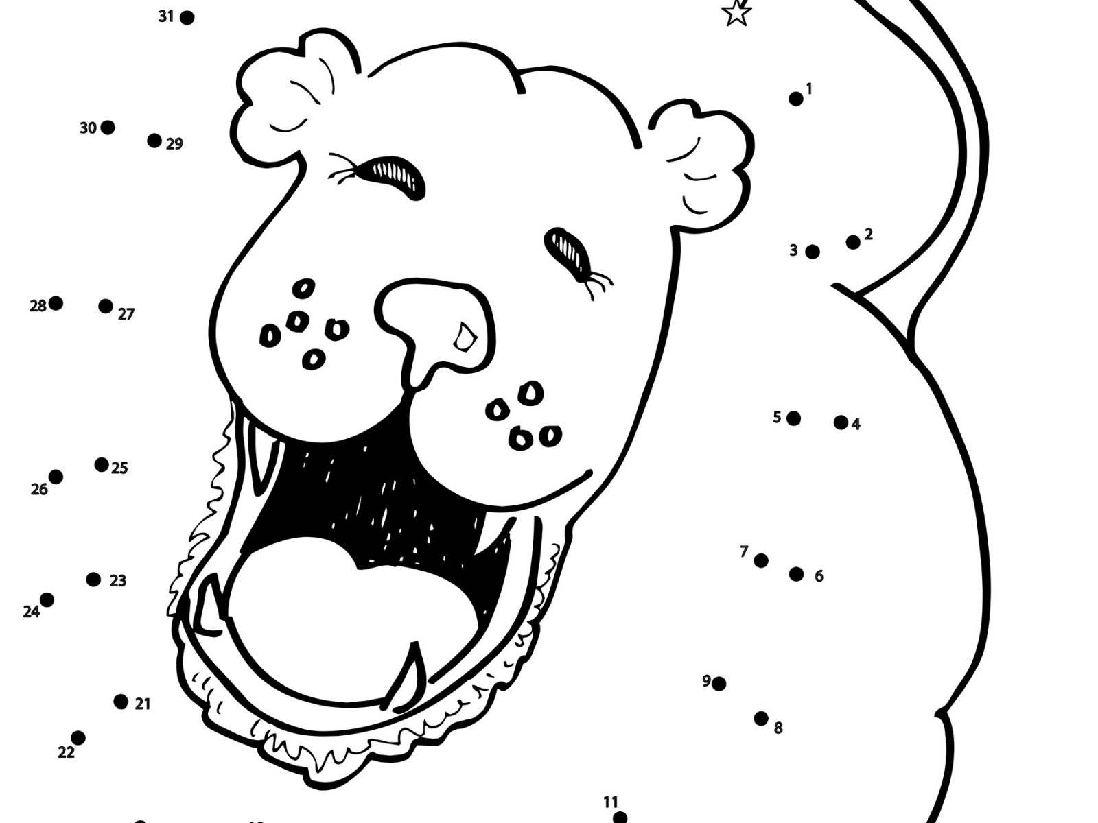 1600x1200 Sitting Lion Dot To Free Printable Coloring Worksheets Cub King