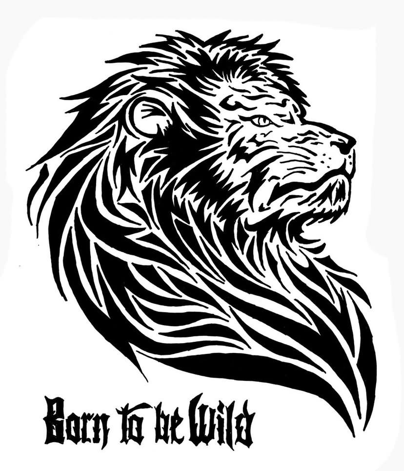 828x966 Tribal Lion Drawing How To Draw A Lion