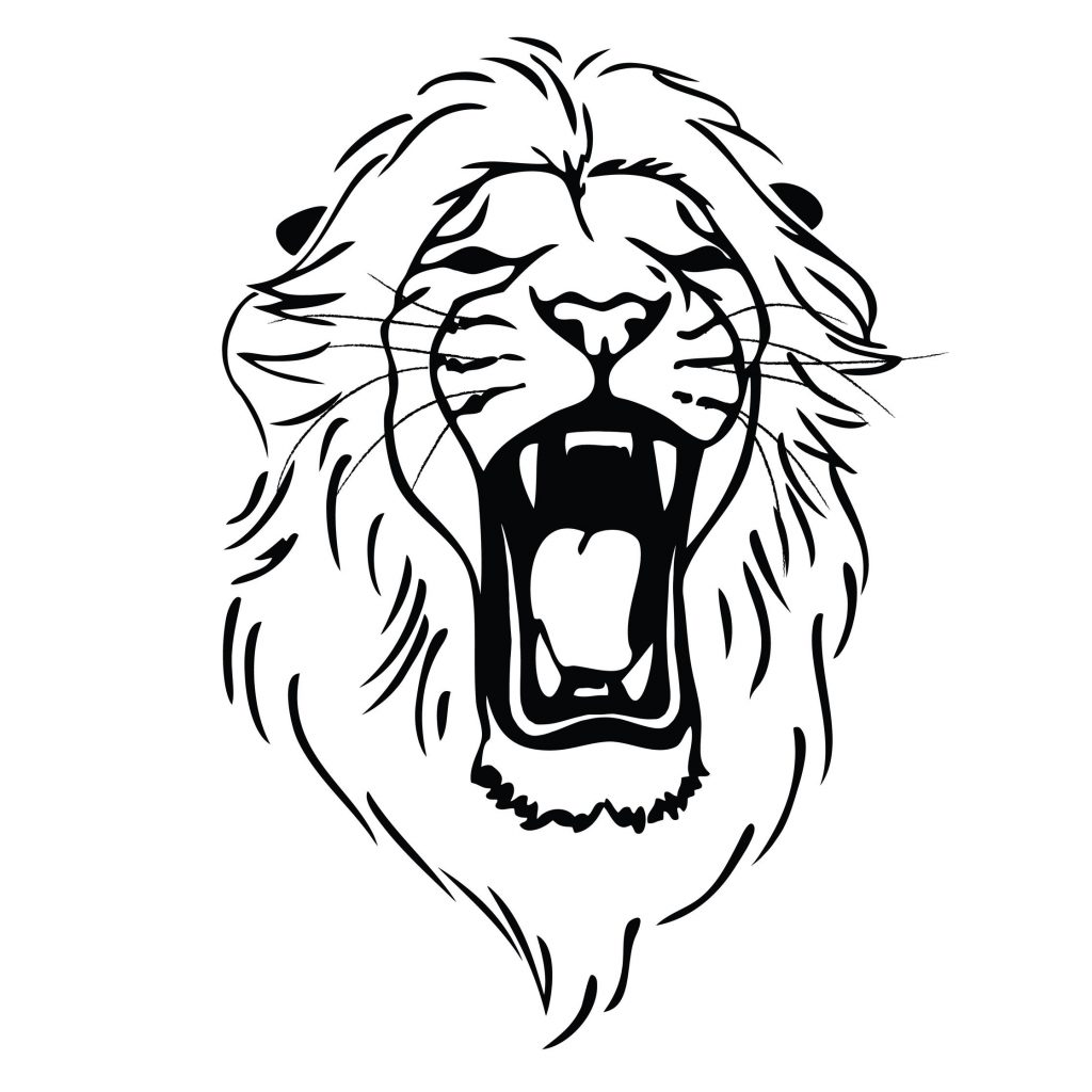 1024x1024 Best 15 Drawn Lion Angry Images