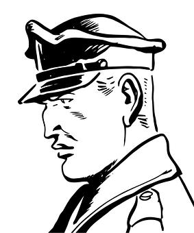 Angry Man Drawing