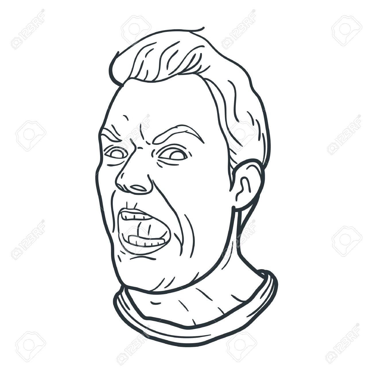 1300x1300 Angry Man Shouting Expression Royalty Free Cliparts, Vectors,