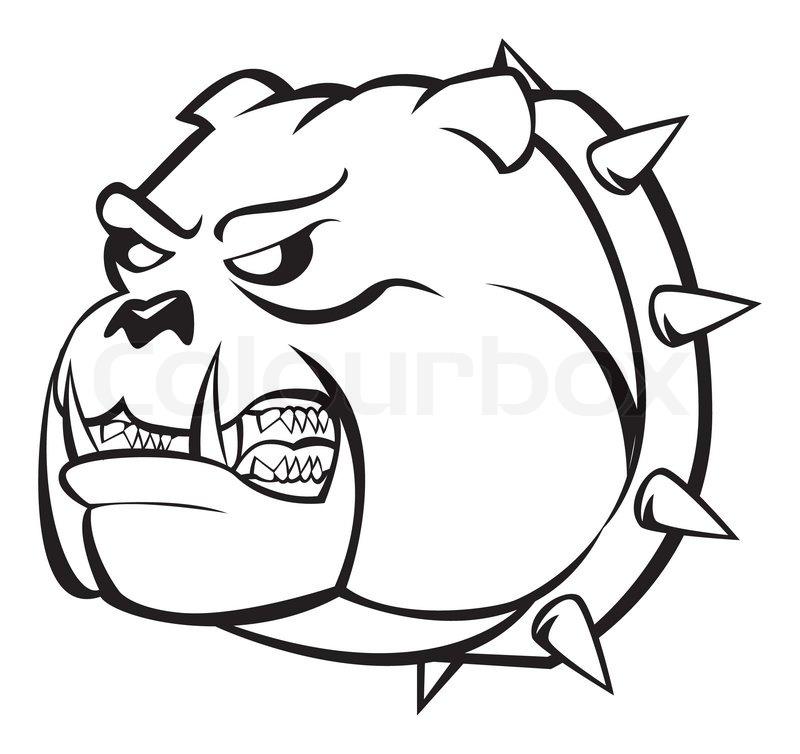 800x754 Bulldog Angry Stock Vector Colourbox