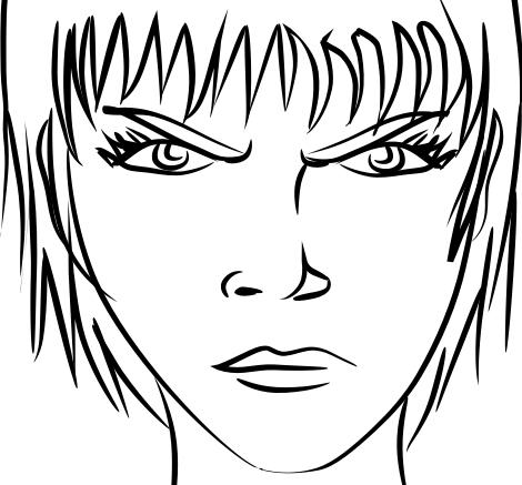 470x437 Angry Pitbull Drawing