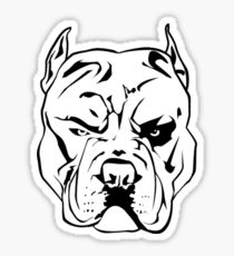 210x230 Angry Pitbull Drawing Stickers Redbubble