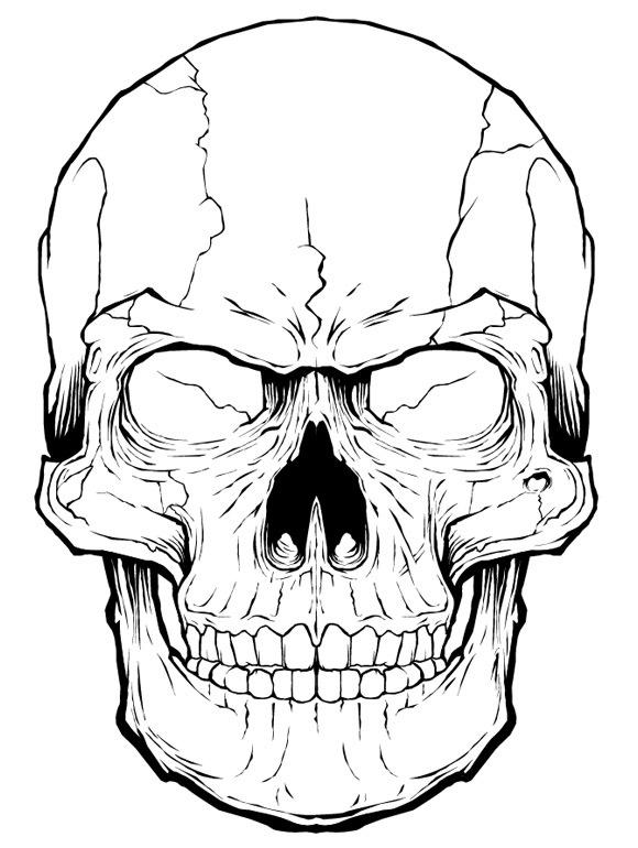 Angry Skull Drawing