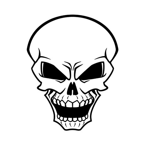 463x463 Angry Skull Face Yelling