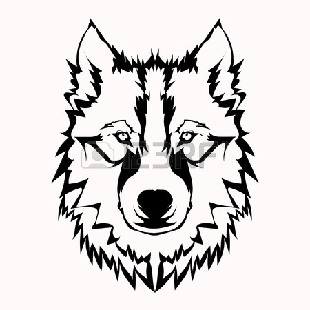 Angry Wolf Face Drawing