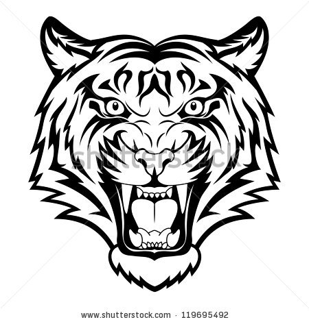 450x470 Collection Of Tribal Angry Lion Face Tattoo Design