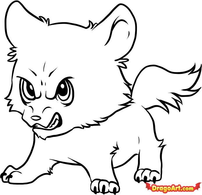 694x668 Drawn Werewolf Dragoart