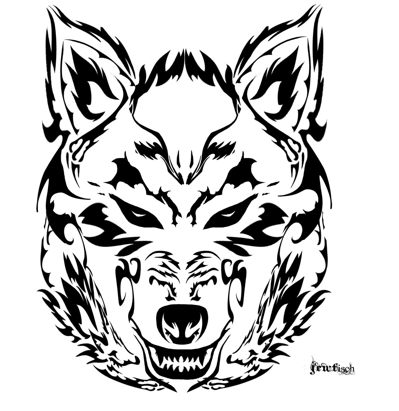Angry Wolf Face Drawing At Getdrawings Com Free For Personal Use