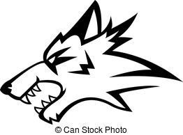 262x194 Angry Wolf Clipart