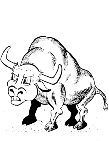 371x480 Cartoon Bull Coloring Page Free Printable Coloring Pages