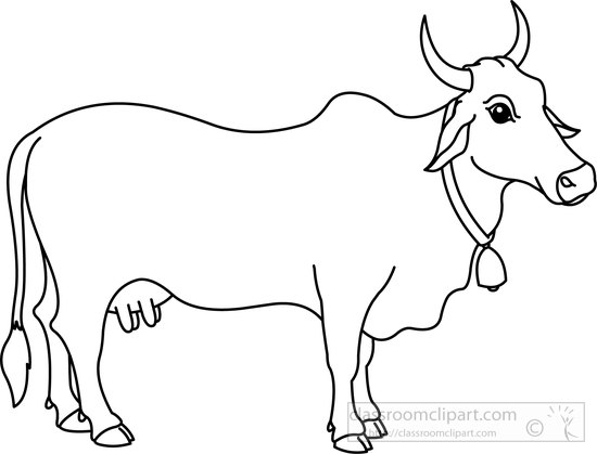 550x419 Angus Cattle Outline