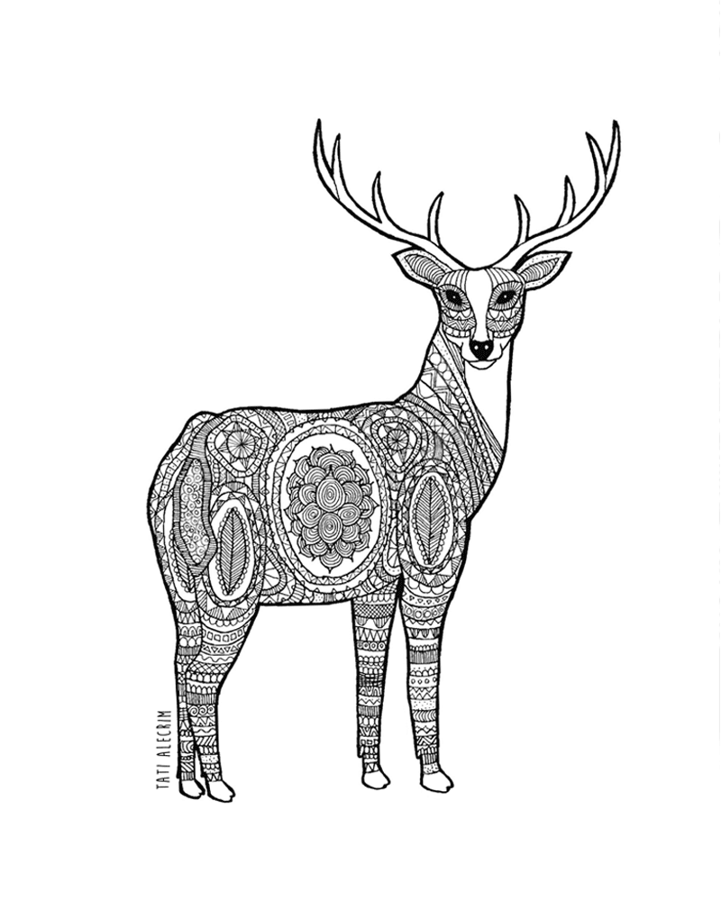 800x1000 Animal Pattern Deer Tati Alecrim