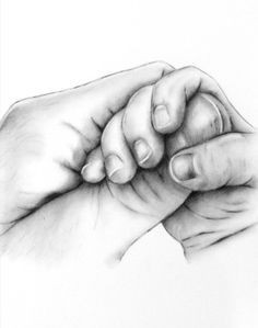236x299 Custom Charcoal Drawing From Your Photo Of Baby Hands (Not