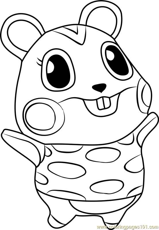 553x800 Apple Animal Crossing Coloring Page