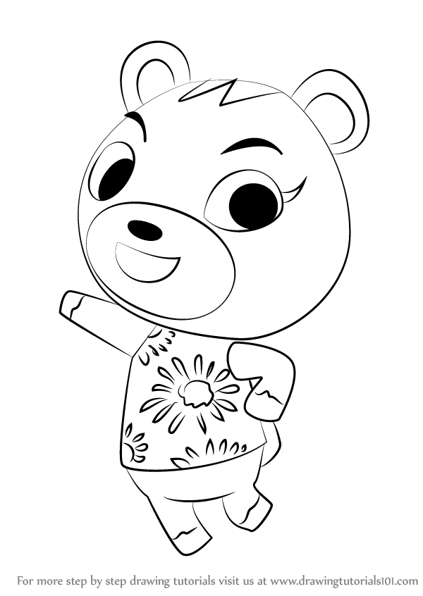 600x846 Learn How To Draw Cheri From Animal Crossing (Animal Crossing