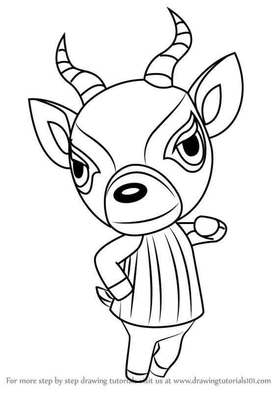 566x800 Learn How To Draw Lopez From Animal Crossing (Animal Crossing