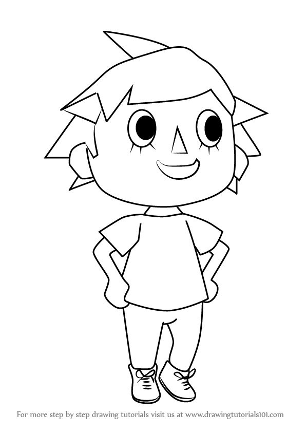 596x843 Learn How To Draw Player From Animal Crossing (Animal Crossing