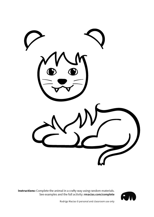 596x842 Complete The Animals (Arts And Crafts Game With Free Printables