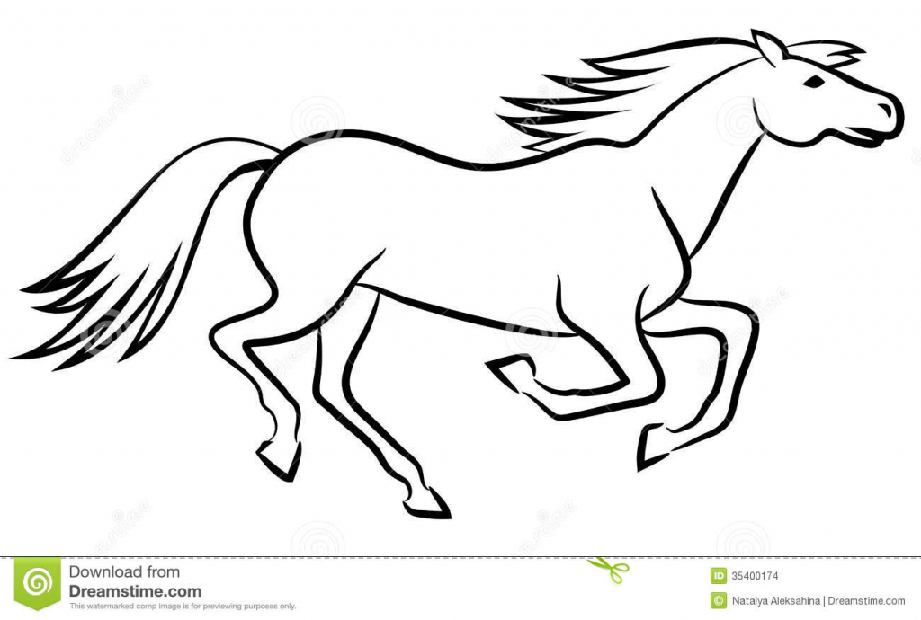 1024x690 Horse Outline Drawing Drawings Of Animals Outline Drawings
