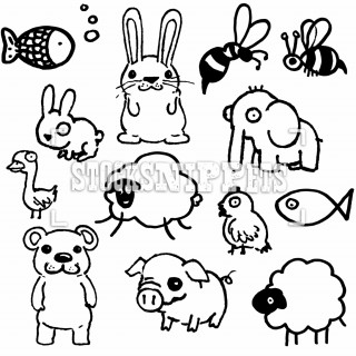 320x320 Studentsdrawing Animal Step By Easy Outline Drawing Elephant Cat