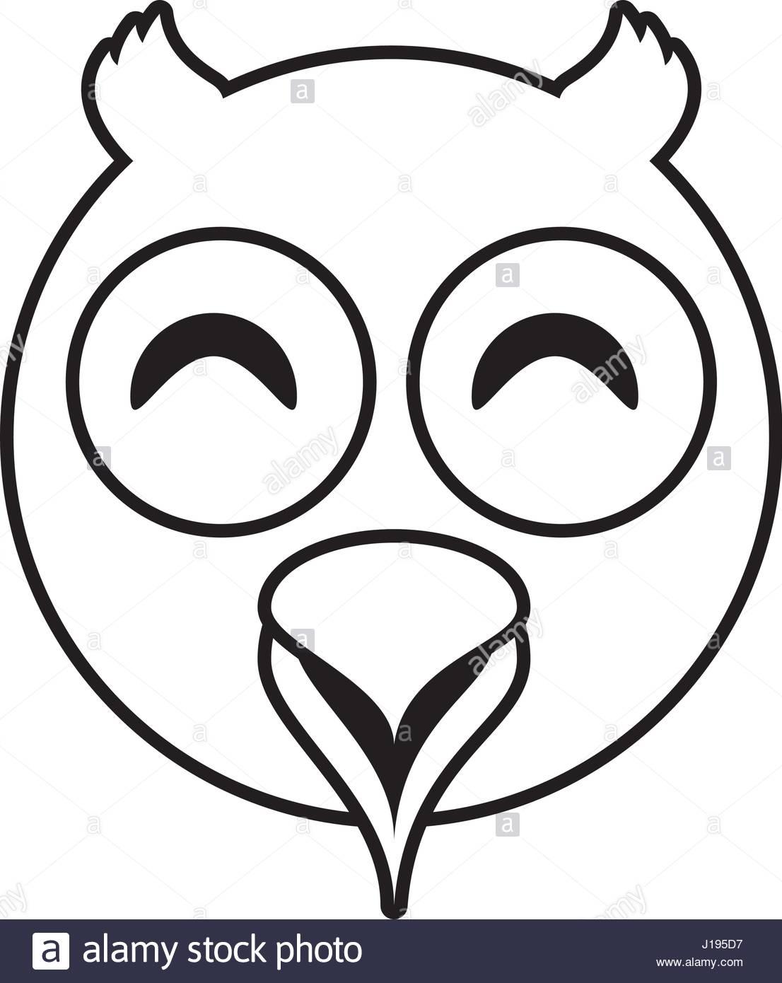 1106x1390 Owl Face Animal Outline Stock Vector Art Amp Illustration, Vector