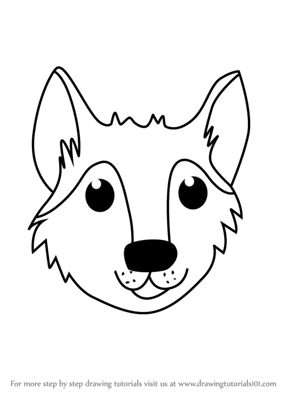 567x800 Learn How To Draw A Wolf Face For Kids (Animal Faces For Kids