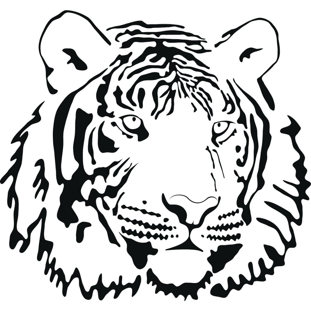 1024x1024 Coloring Tiger Face Coloring Page Animal Faces Pages Monkey