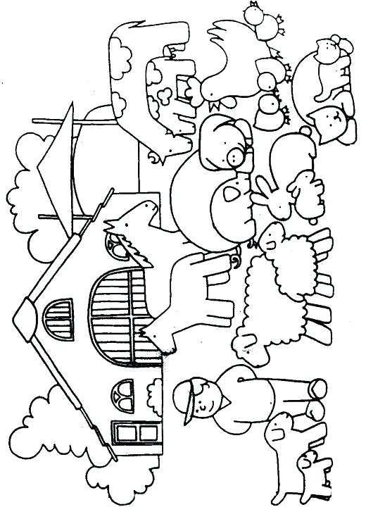 520x720 Coloring Pages Farm For Farm Animals Coloring Pages Theme Farm