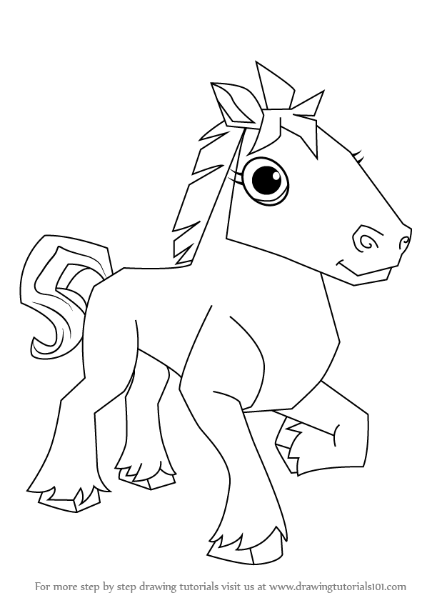 598x844 Learn How To Draw Horse From Animal Jam (Animal Jam) Step By Step