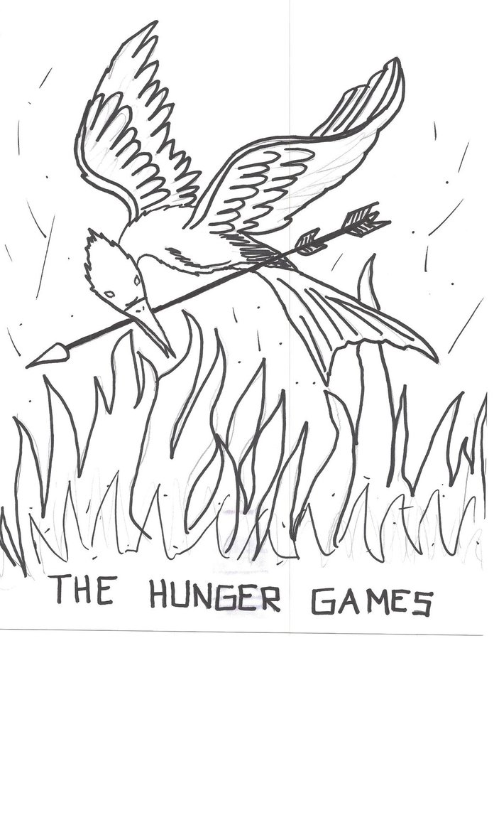 696x1147 The Hunger Games Drawing By Julietcapulet432