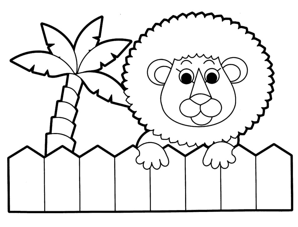 1008x768 Printable Farm Animal Coloring Pages