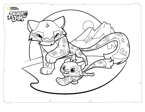 500x386 Animal Jam Coloring Pages The Daily Explorer Sophie's Stuff