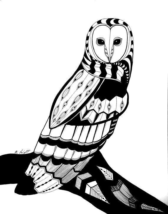 Animal Ink Drawing