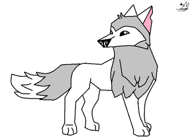 400x284 Animal Jam Artic Wolf Lineart By Rainy911